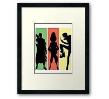 Zoro X Luffy X Sanji Framed Print
