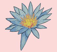 Light Blue Water Lily Kids Tee
