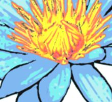 Light Blue Water Lily Sticker
