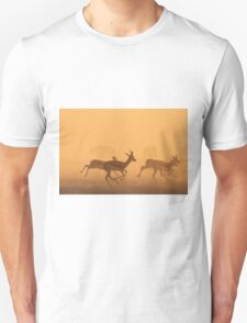 Springbok - African Wildlife Background - Golden Run Unisex T-Shirt