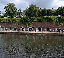 Small Craft Shops along Exeter Canal ...........l by lynn carter