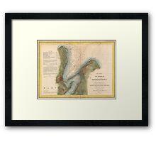 Vintage Martha's Vineyard Holmes Hole Map (1847) Framed Print