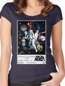 Rick and Morty Wars Women's Fitted Scoop T-Shirt
