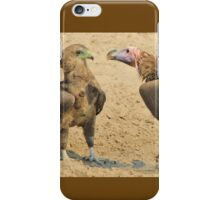 Lappet Faced Vulture and Bateleur Eagle Fight iPhone Case/Skin