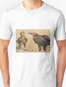 Lappet Faced Vulture and Bateleur Eagle Fight Unisex T-Shirt