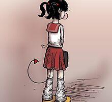 School Girl Demon by godlessmachine