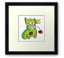 Teenage Mutant Ninja Llama! Framed Print