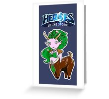 Tiny Heroes: Lunara from World of Warcraft Greeting Card