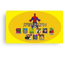 Spiderman '67 custom Canvas Print