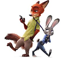 Nick and Judy (Zootopia) Photographic Print