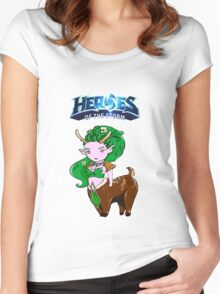 Tiny Heroes: Lunara from World of Warcraft Women's Fitted Scoop T-Shirt
