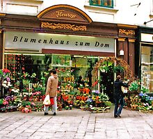 flower shop, Vienna, Austria by Margaret  Hyde