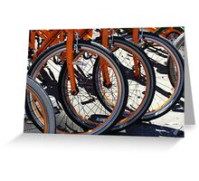 Bike Wheels Greeting Card