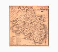 Vintage Map of Charleston South Carolina (1849) Unisex T-Shirt