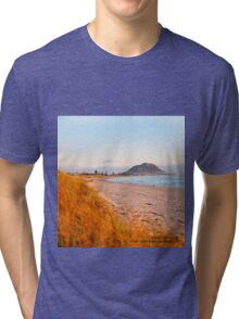 Mount Maunganui beach scene for covers, smartphone cases  Tri-blend T-Shirt