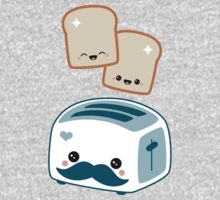 Cute Mustache Toaster Kids Clothes