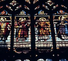 Stained glass Cathedral Sens France 198405050122  by Fred Mitchell