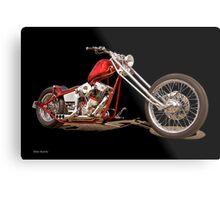 Harley Chopper 'Hawg Heaven' Metal Print