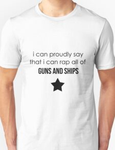 guns and ships Unisex T-Shirt