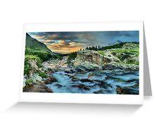 Swiftcurrent Sunrise Panorama Greeting Card