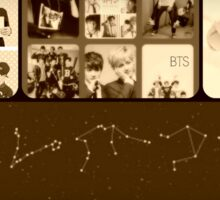 BTS Collage Vintage Sticker