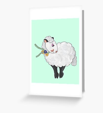 Ewe's not Fat, Ewe's Fluffy! Greeting Card