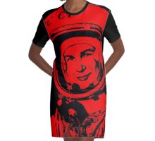 Cosmonaut Valentina Tereshkova Graphic T-Shirt Dress