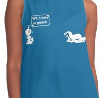 We come in peace! Contrast Tank