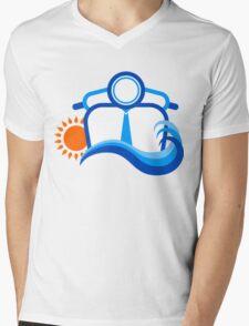 Summer Beach Mens V-Neck T-Shirt