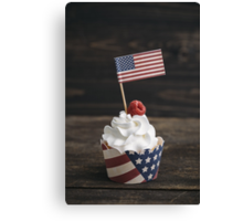 Independence day cupcake Canvas Print