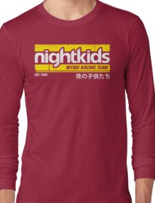 Initial D - NightKids Tee (White) Long Sleeve T-Shirt