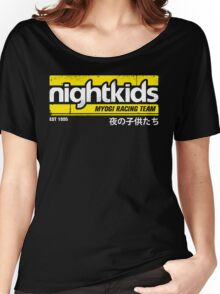 Initial D - NightKids Tee (White) Women's Relaxed Fit T-Shirt
