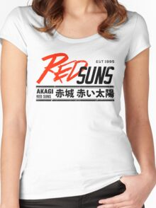 Initial D - RedSuns Tee (Black) Women's Fitted Scoop T-Shirt
