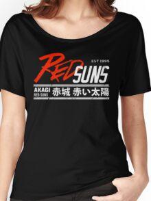Initial D - RedSuns Tee (White) Women's Relaxed Fit T-Shirt