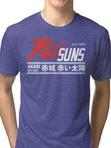 Initial D - RedSuns Tee (White) Tri-blend T-Shirt