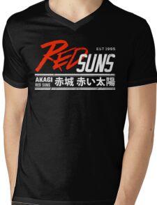 Initial D - RedSuns Tee (White) Mens V-Neck T-Shirt