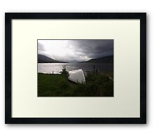 White Hull Framed Print