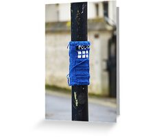 Tardis Street Art Greeting Card