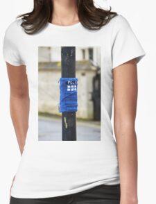 Tardis Street Art Womens Fitted T-Shirt