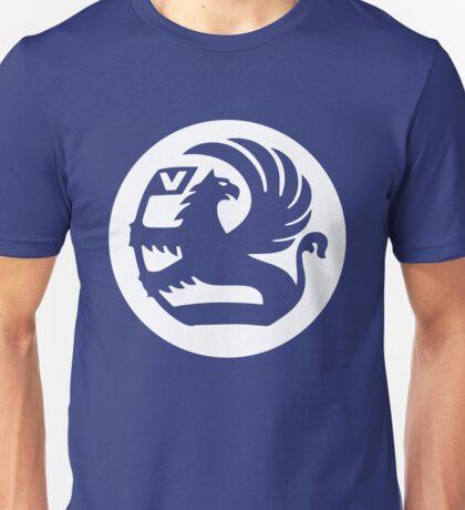 Vauxhall Badge Cutout WHT Unisex T-Shirt
