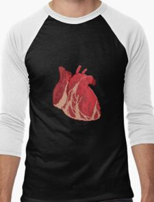 Pixel Heart Men's Baseball ¾ T-Shirt