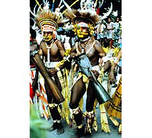 dancers, Papuan Day show, Port Moresby Photographic Print
