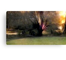 Bridge in The Forest Canvas Print