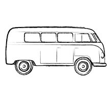 Bus Sketch Photographic Print