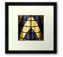 Superheroes - Black Yellow Framed Print