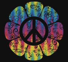 Colorful Peace Symbol Flower by ArtVixen