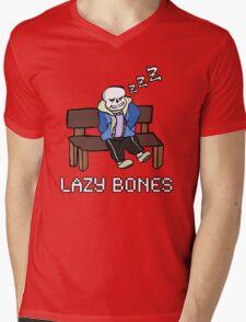Lazy Bones- Undertale Sans Mens V-Neck T-Shirt