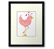Pink Bird Framed Print