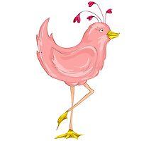 Pink Bird Photographic Print