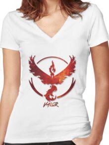Pokemon GO | Team Valor Women's Fitted V-Neck T-Shirt